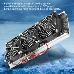 Trinuclear Thermoelectric Peltier Refrigeration Air Cooling System Kit Cooler St