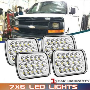 For Chevy Express Cargo Van 1500 2500 3500 Truck 7 x6 6x7 Led Headlight Pair