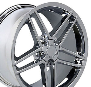 18x10 5 17x9 5 Wheels Fit Camaro Corvette C6 Z06 Chrome Rims W1x Set