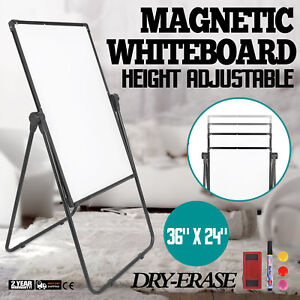 Single sided Mobile Whiteboard With Stand 36 24 Magnetic Dry Erase Board