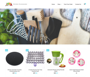 Kitchen Accessories Turnkey Website Business For Sale Profitable Dropshipping