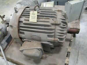 Allis chalmers Ac Motor Gzz 50hp 1800rpm 208 220 440v 120 60a 385us Frame Used