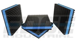 Heavy Duty Anti Vibration Isolation Pads 4 X 7 8 Ribbed Rubber With Blue Foam