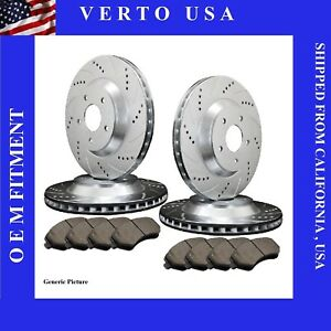 Front Rear Brake Rotors Pads For Nissan Altima 2002 2003 2004 2005 2006