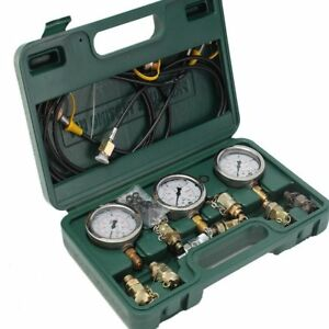 Excavator Caterpillar Hydraulic Pressure Gauge Tester Tool Coupling Test Kit