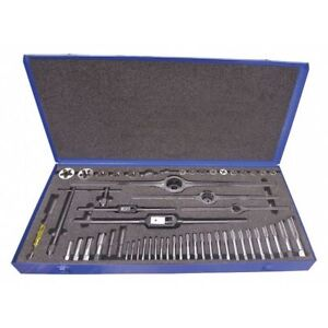Tap And Die Set pieces 52 hss bright Greenfield Threading 423006