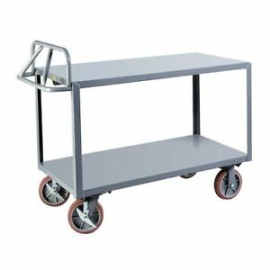 Little Giant Erg30488pybk 12 Ga Steel Raised Handle Utility Cart 3600 Lb