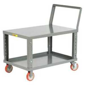 Little Giant Lk24485pybkah Steel Raised Handle Utility Cart 1200 Lb Capacity