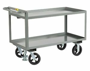 Little Giant Gl24488mrfl 12 Ga Steel Raised Handle Utility Cart 2400 Lb