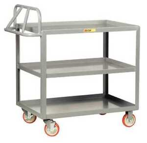 Little Giant 3erlgl2448brk 12 Ga Steel Raised Handle Utility Cart 1200 Lb