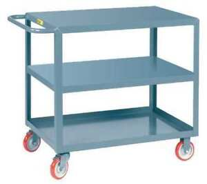 Little Giant 3lg2436brk 12 Ga Steel Flat Handle Utility Cart 1200 Lb