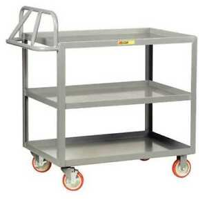 Little Giant 3erlgl3048brk 12 Ga Steel Raised Handle Utility Cart 1200 Lb
