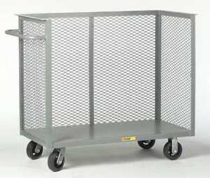 Little Giant Ca30608mr Mesh Security Cart 2400 Lb Capacity 30 W X 66 L X 1
