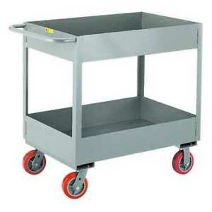 Little Giant Ds1830x66py 12 Ga Steel Utility Cart 3600 Lb Capacity 36 l X