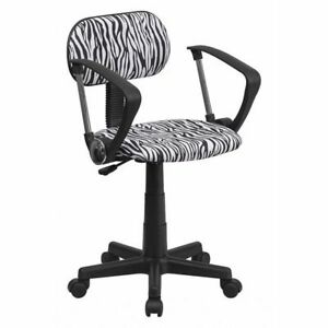 Black white Zebra Task Chair Flash Furniture Bt z bk a gg