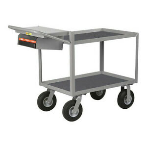 Little Giant Gl24369pmwsp 12 Ga Steel Vinyl shelf Utility Cart 1200 Lb