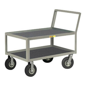 Little Giant Lkl24369pm 12 Ga Steel Vinyl shelf Utility Cart 1200 Lb