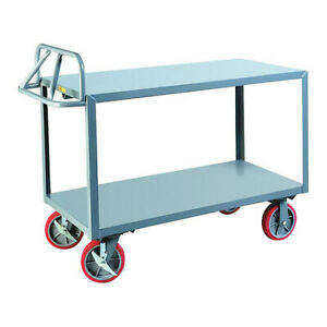 Little Giant Erg24488pybk 12 Ga Steel Utility Cart 3600 Lb Capacity 54 l X