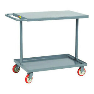 Little Giant Ea24365py 12 Ga Steel Utility Cart 600 Lb Capacity 42 l X 24 w