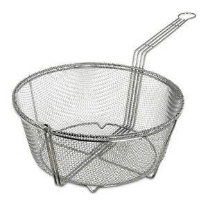 Mesh Fryer Basket 13 1 2 chrome pk12 Carlisle 601003
