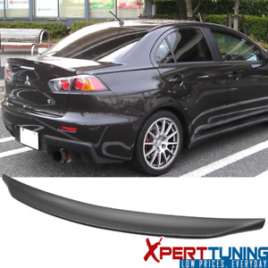Fits 08 17 Mitsubishi Lancer Evo X 10 Mr Gsr Jdm Duckbill Rs Abs Trunk Spoiler