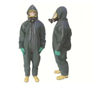 Light Type Pvc Chemical Protective Suit Gray Economical Practical 0 40mm