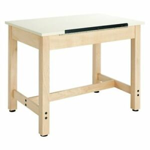 Diversified Woodcrafts Dt 9a30 Drafting Table 36 x24 adjstable Surface