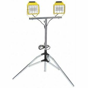 High Output Led Double Tripod Light Construction Electrical Products 9810