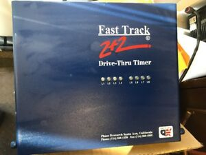 Fast Track 2 2 Drive Thru Through Timer By Phase Research Pos Ibm Ncr Micros