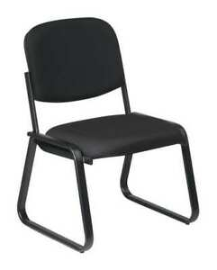 Chair visitor fabric plastic blk 250 Lb Office Star V4420 231