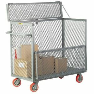 Security Box Cart 3600 Lb urethane Little Giant Sb24606py