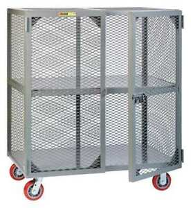 Mobile Security Cart fixed Shelf Little Giant Sc24606ppy