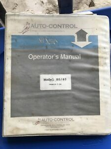 Autocontrol 80 Series Concrete Batch Plant Operator s Manual