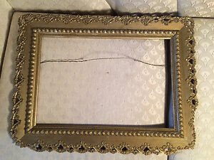 Nice Antique Gold Tone Ornate Wood Painting Frame 22 X 16 5 X 0 75