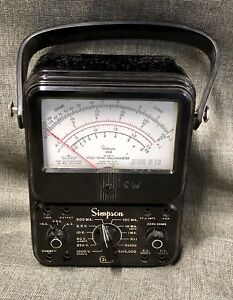 Vintage Simpson 260 Series 5 Volt Ohm Meter Multimeter No Leads