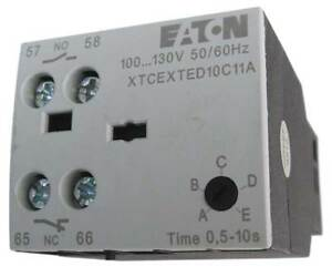 Timer Module off Delay 24ac dc 5 100sec Eaton Xtcexted100c11t