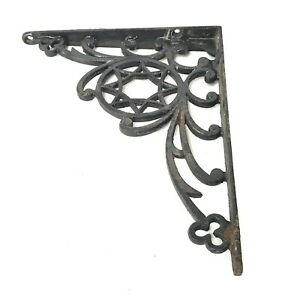 Single Antique Cast Iron Corner Plant Hanger Shelf Bracket Vines 8 By 6