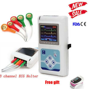 3 Channels Ecg Holter Moniting Ecg ekg Holter Monitor System Ce Fda Contec