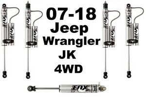 Fox 2 0 Perf Reservoir Shocks Stabilizer For Wrangler Jk 4wd 6 5 8 Lift