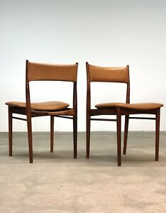 Danish Modern Rosewood Dining Chairs By Rosengren Hansen Set 4 Leather
