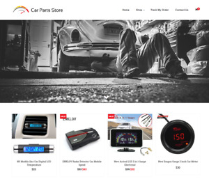 Established Car Parts Turnkey Website Business For Sale profitable Dropshipping