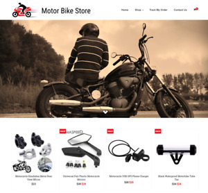 Established Motor Bike Turnkey Website Business For Sale profitable Dropshipping