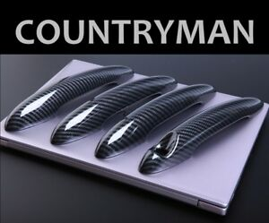 Us Stock Carbon Effect Door Handle Covers Bmw Mini R60 11 16 Countryman Cooper S