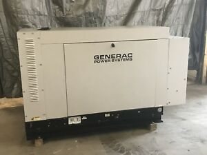 30 Kw Generator Natural Gas Propane 120 240 Low Hrs Sound Enclosure Sg030