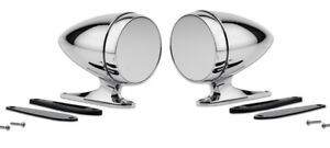 New Mustang Shelby Bullet Style Chrome Mirrors Gt350 Cobra Tiger Gt500 Pair Set