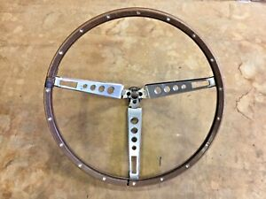 1965 1966 Mustang Steering Wheel Chrome Stainless Fomoco