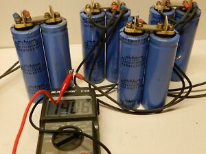 Nichicon 600 Mfd Uf 350 V Capacitors 8 In Ganged Sets Of 2 At 1200 Mfd