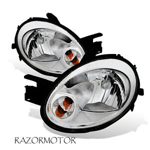 2003 2005 Replacement Headlight Lamp Set For Dodge Neon W Bulb And Socket
