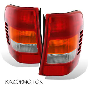 1999 2004 Replacement Tail Light Housing Set Pair For Jeep Grand Cherokee