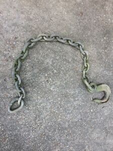 Campbell Aluminum Eye Type Hook With Chain